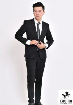 bộ vest đen 1khuy 2