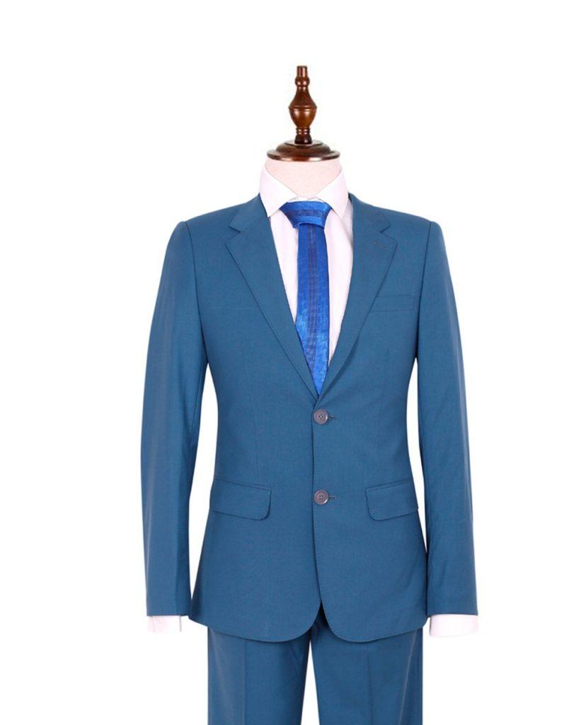 Áo vest nam màu xanh dương 2 khuy cài