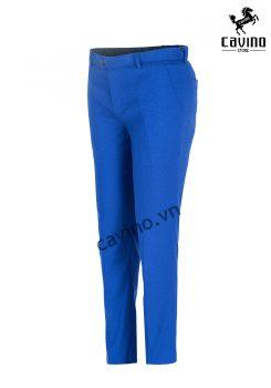 quần âu xanh chấm bi 3