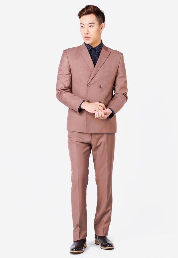 Mẫu vest nam thời trang Hà Nội màu nâu gụ