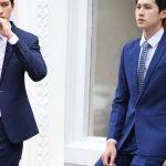Chắc chắn không thể bỏ qua mẫu vest nam thời trang Hà Nội xanh navy