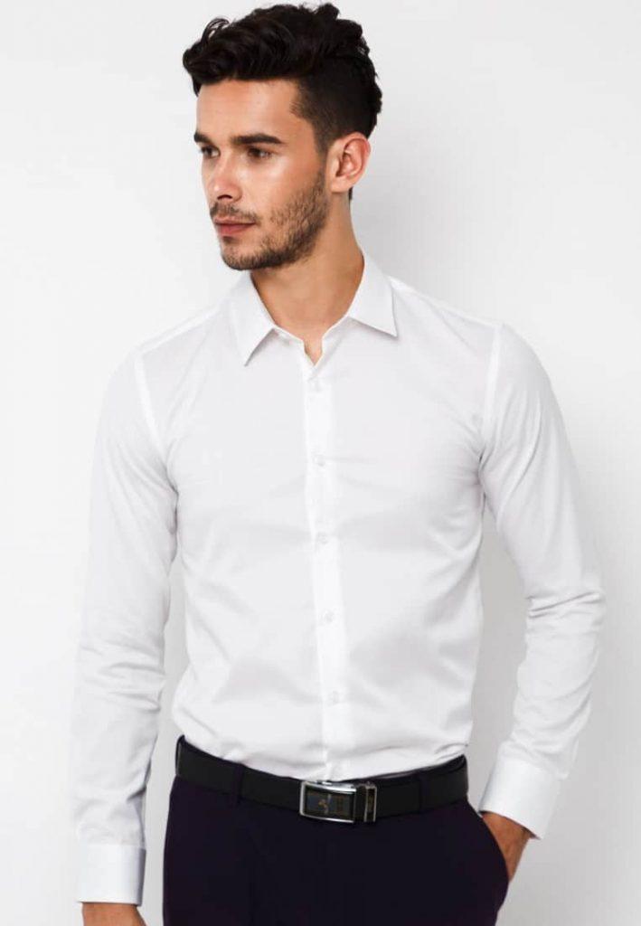 Kinh nghiệm mua áo sơ mi trắng body nam đẹp