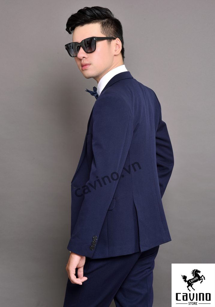 bộ vest màu xanh tím than