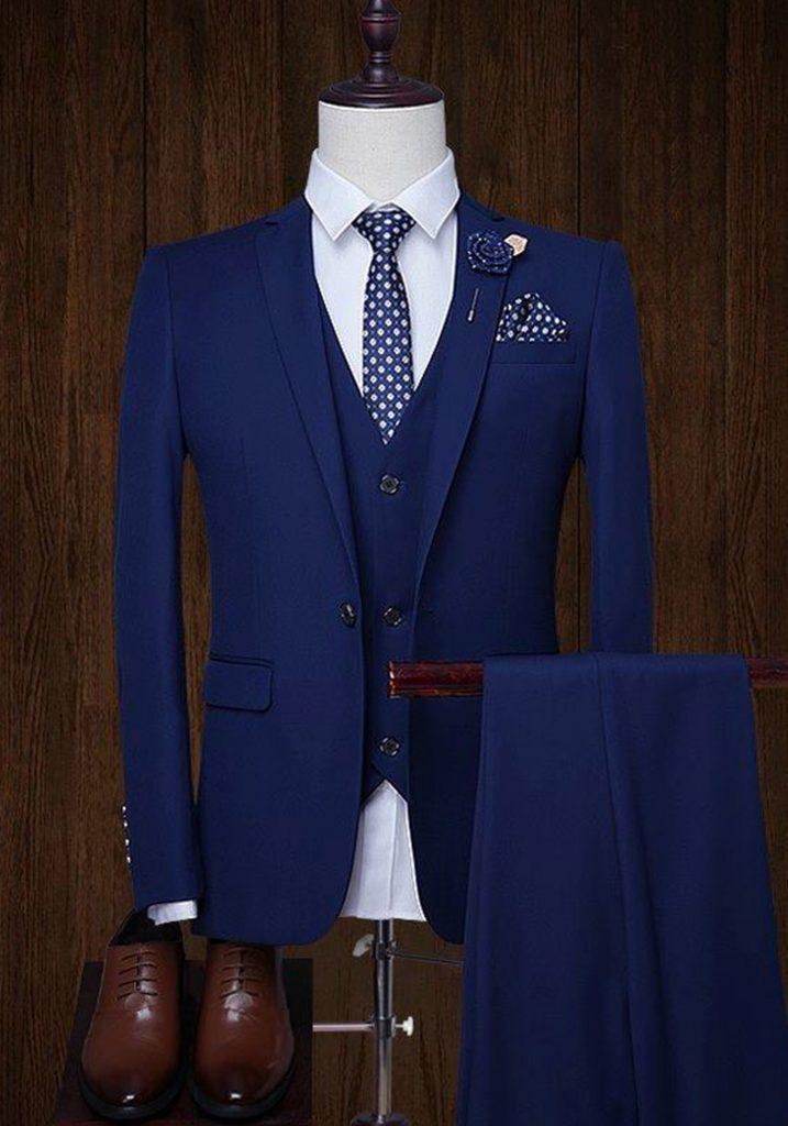 áo vest nam màu xanh coban