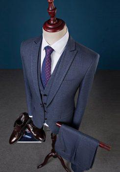 Bộ vest nam màu tàn thuốc