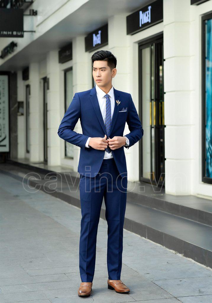 Vest nam xanh coban mới