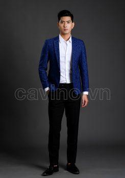 Áo xanh hoa văn