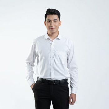 áo sơ mi trắng bambo cao cấp