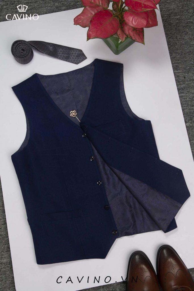 áo ghi lê nam vải xanh coban03