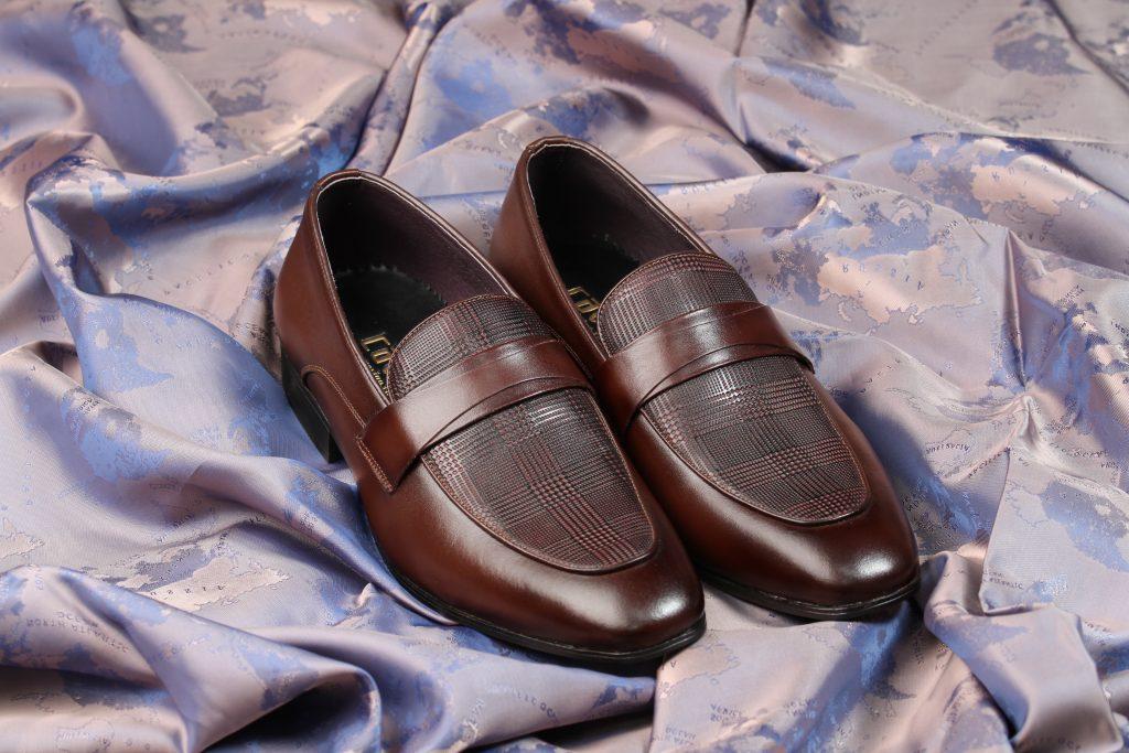 giày lười cao cấp nâu tây