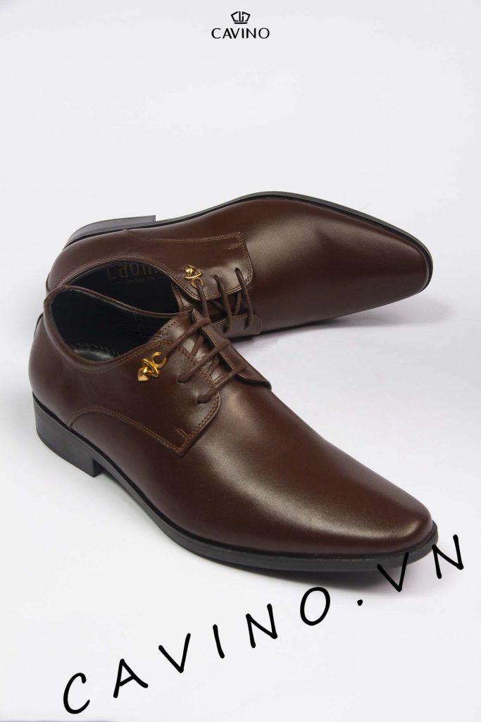 giày tây nam nâu trầm cao cấp g2020